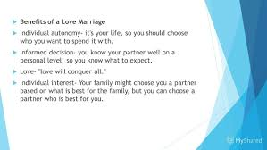 is an arranged marriage good to form a 6 benefits of a love