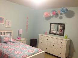Pottery Barn Girls Bedroom Maddys Completed Light Blue Pink Big Girl Room Pottery Barn