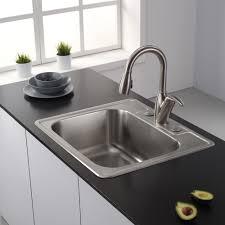 top kitchen sink kraus  inch topmount single bowl  gauge stainless steel kitchen sink w