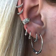 E0263 Bohemian Style Silver Color <b>Earring</b> Set Punk Style <b>Vintage</b> ...