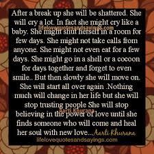 After A Break Up Quotes. QuotesGram via Relatably.com
