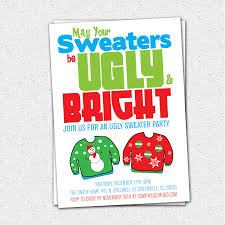 ugly sweater christmas party invitations net ugly sweater party invitations theruntime party invitations
