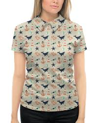 """Рубашка Поло с полной запечаткой """"<b>Акулы</b>"""" #1984512 от ..."""