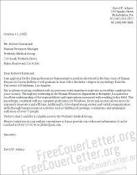 human resources representative cover letter sample human resources cover letters