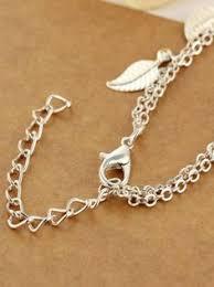 Vintage Double Layer <b>Metal Leaf Ankle Bracelet</b> #ankle #bracelet ...