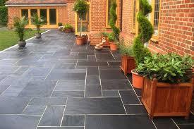 patio slab sets: blue black slate paving patio kit