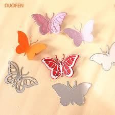 2019 <b>DUOFEN METAL CUTTING DIES</b> 010089 Large Butterflies ...