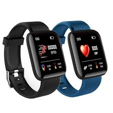 Smart Watch <b>116 Plus Wristband</b> Fitness Blood Pressure Heart Rate ...