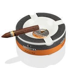 COHIBA Portable <b>Cigar Ashtray</b> Home <b>Ceramic</b> Ashtray Luxury ...