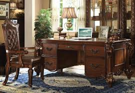 vendome 3 piece home office set in cherry finish by acme 92125 s home office furniture cherry finished