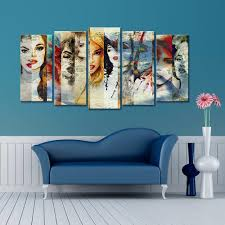 999store <b>Printed Abstract</b> Girls Canvas Painting, एब्स्ट्रैक्ट ...