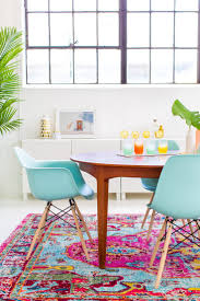 kitchen rugs urban table chairs appliances dining room makeover with tons of turquoise aqua bright colors white w