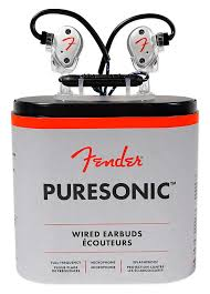 <b>FENDER PureSonic Wired Earbuds</b> In-Ear Headphones w/Mic+ ...