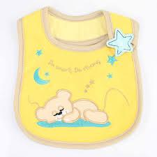 3PCS New Cute <b>Baby Bibs Cartoon Printing</b> Cotton Newborn Infant ...