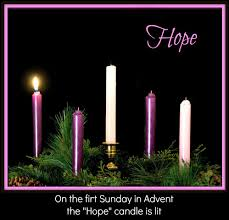 Image result for advent wreath pictures  one candle lit
