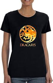 Allntrends <b>Women's T Shirt Dracarys</b> Shirt Cool Tredy Tee: Amazon ...