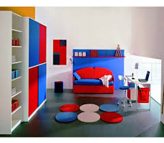comfortable and cute home office design ideas appealing blue red murphy bed sofa in enthralling kids appealing design ideas home