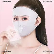 lightover <b>1PC</b> Summer Women <b>Cycling</b> Sunscreen <b>Ice</b> Cotton Mask ...