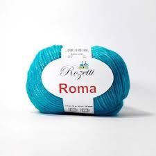 <b>Пряжа Rozetti Roma Цвет</b>.<b>201-14</b> Бирюза оптом на opt ...