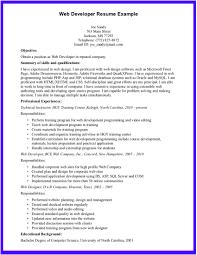 resume web services developer resume formt cover letter examples html developer resume sample web developer resume 7