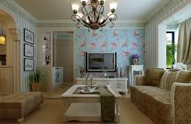 model living rooms: living room model living room with modern furniture and flower wallpaper decoration and white coffee table