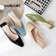 <b>Wellwalk</b> Fashion Heels Slides <b>Female</b> Designer <b>Slippers Women</b> ...
