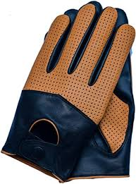 Riparo Motorsports <b>Men's</b> Half <b>Mesh Leather</b> Driving Gloves at ...