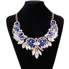 dvacaman new za design multicolor crystal beads flower necklace vintage maxi rhinestone bijoux statement choker jewelry