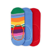 <b>Набор из 3</b>-х пар невиHappy Socks <b>3</b> Pair Pack Liners - Stripes ...