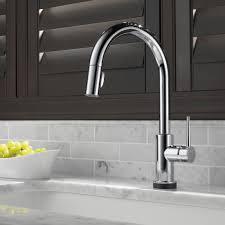 Delta Touch Kitchen Faucet Delta Trinsicar Kitchen Single Handle Pull Down Standard Kitchen