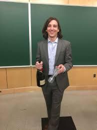 Matt Puster celebrating defending his PhD Thesis Penn Physics and Astronomy   University of Pennsylvania