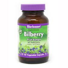 <b>standardized bilberry fruit</b> extract 120 vegetable capsules