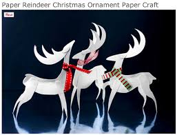 16 best photos of christmas paper crafts templates paper paper christmas craft reindeer or nt