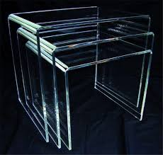 perspex nest of tables acrylic perspex furniture