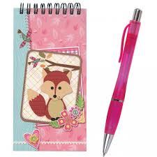 <b>Brauberg Блокнот А5</b> с ручкой Лиса - Акушерство.Ru
