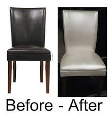 diy painted leather dining chairs can you paint leather furniture