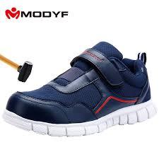 <b>MODYF Men Steel Toe</b> Work Safety Shoes Lightweight Breathable ...