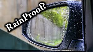 Rainproof <b>Film</b> for <b>Rearview Mirror</b> Test - YouTube