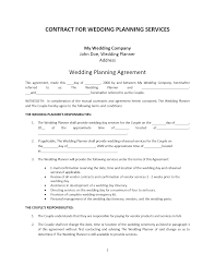 wedding planner contract template event planning contract templates