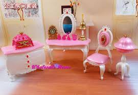 doll toy dresser chair set dollhouse bed room furniture princess diy accessories decoration collection for barbie kurhn doll accessories furniture funny