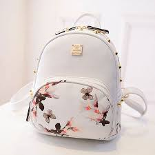 Floral Butterfly Backpack <b>Small Bag</b> | Leather backpacks for girls ...