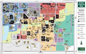 University of South Florida Tampa Campus Map - 4202 East Fowler ...