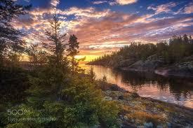 <b>Colorful sunset</b> over Ladoga <b>lake</b>. (Andrey Bazanov / Saint ...