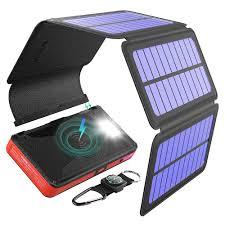 BLAVOR <b>Solar Charger</b> Five <b>Panels Detachable</b>, Qi Wireless ...