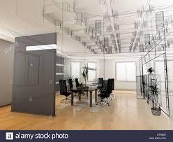Stock Photo The Modern Office Interior Design Sketch 3d Render  Modern Office Interior  R