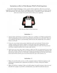 cover letter how to write a resume out work experience how to cover letter mba resume no experience s lewesmr how to write for job experiencehow to write