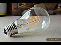 Светодиодная <b>лампа</b> FILAMENT 6W обзор - 1я часть - YouTube