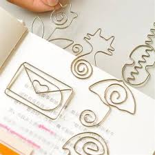 <b>5 Pcs</b> Cute Metal Paper <b>Clips</b> Pin Bookmark <b>Memo Clip</b> Office ...