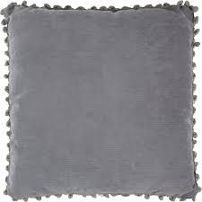 <b>Подушка декоративная с помпоном</b>, 40х40 см, цвет серый в ...
