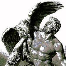 A drawing of the Greek god Prometheus